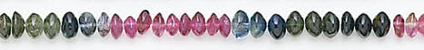 Design 7049: multi tourmaline rondelle beads
