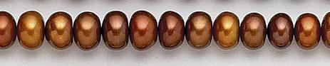 Design 7051: brown pearl beads