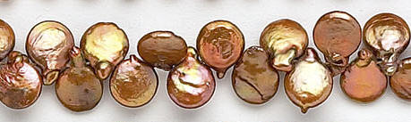 Design 7053: brown pearl beads