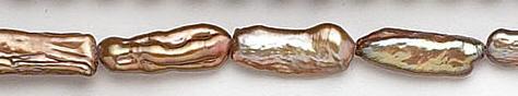 Design 7055: brown pearl beads