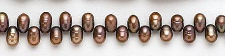 Design 7057: brown pearl beads