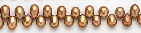 Design 7058: brown pearl beads