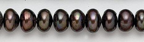 Design 7063: brown pearl beads
