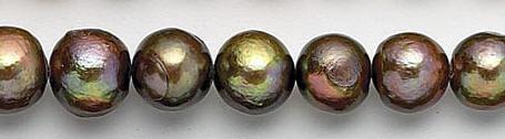 Design 7065: brown pearl beads