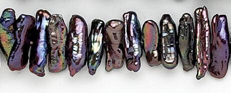 Design 7070: peacock pearl beads