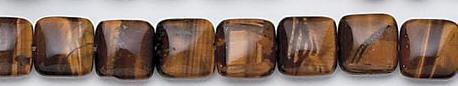 Design 7078: brown tiger eye square beads