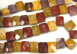 Design 7282: multi agate faceted beads