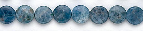 Design 7316: blue apatite coin beads