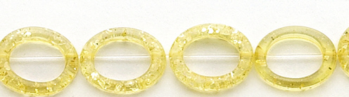 Design 7637: orange,yellow amber oval beads