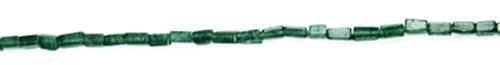 Design 7748: Green onyx square beads