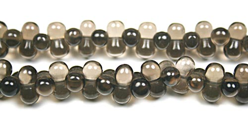 Design 7877: Brown smoky quartz beads