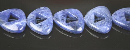 Design 7879: Blue sodalite beads