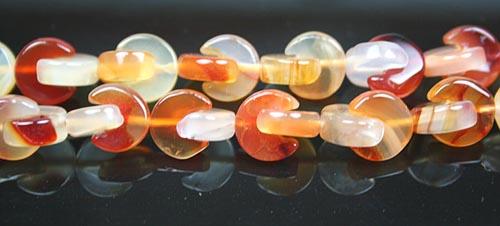 Design 7881: Orange carnelian beads