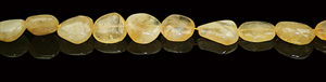 Design 8003: Yellow citrine beads