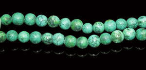 Design 8004: Green turquoise beads