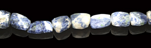 Design 8005: blue,white sodalite faceted beads