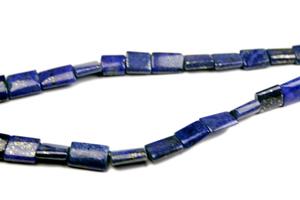 Design 8008: Blue lapis lazuli square beads