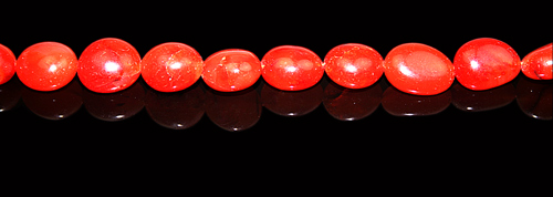 Design 8010: orange carnelian oval beads