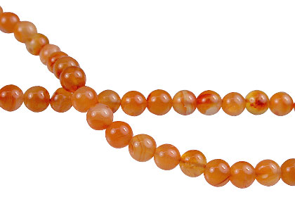 Design 8011: orange agate beads