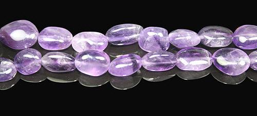 Design 8015: purple amethyst oval beads