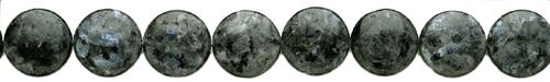 Design 8087: black labradorite coin beads