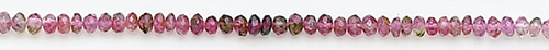 Design 8187: pink tourmaline faceted beads