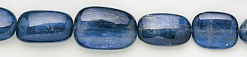 Design 8191: blue kyanite nuggets, oval beads