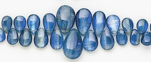 Design 8195: blue kyanite briolettes beads