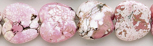 Design 8210: pink, white magnesite beads