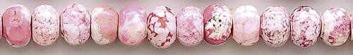 Design 8212: pink, white magnesite beads