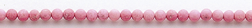 Design 8214: pink magnesite beads