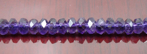 Design 8291: purple amethyst faceted beads