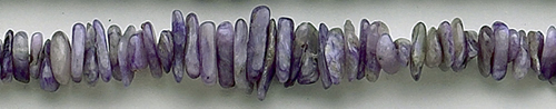 Design 8361: purple charoite chips beads