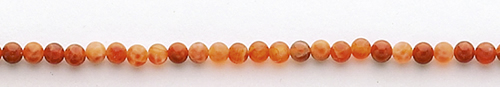 Design 8404: red, orange agate beads