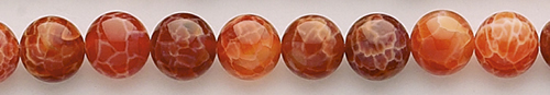 Design 8407: red, orange agate beads