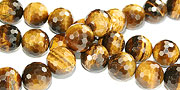 Design 16233: brown,yellow bulk lots faceted beads