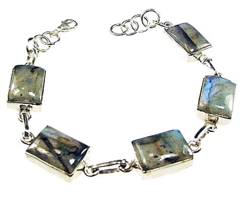 Design 1035: gray labradorite bracelets