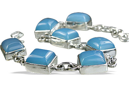 Design 1039: blue,white onyx art-deco bracelets