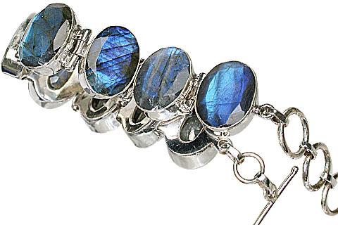 Design 10440: blue,green,gray labradorite bracelets