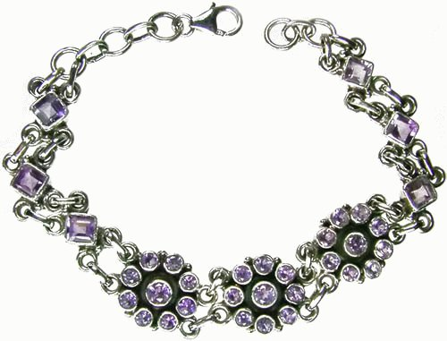 Design 1117: purple amethyst bracelets