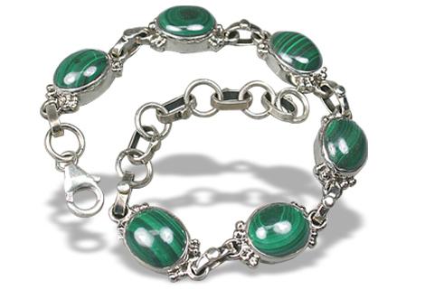 Design 1123: green malachite bracelets