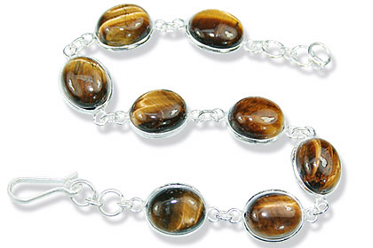 Design 1220: brown tiger eye bracelets