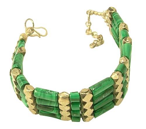 Design 1244: green malachite tribal bracelets