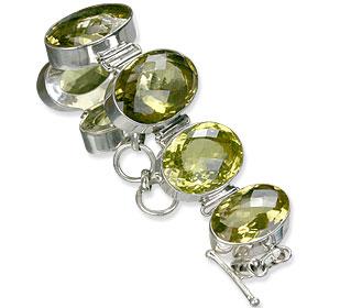 Design 1285: yellow lemon quartz bracelets