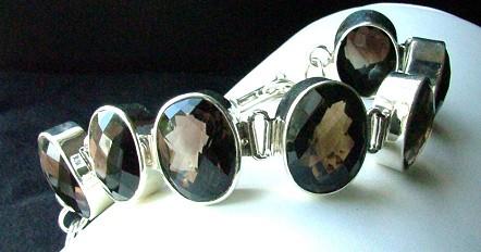 Design 1286: brown smoky quartz bracelets