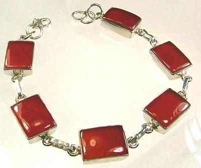 Design 1289: orange,red carnelian bracelets