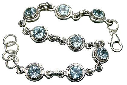 Design 1361: blue blue topaz bracelets