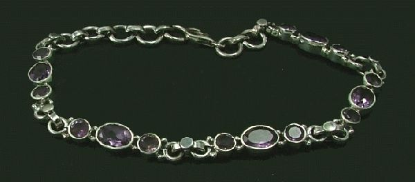Design 1416: purple amethyst bracelets