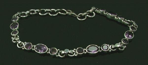 Design 1416: purple amethyst bracelets