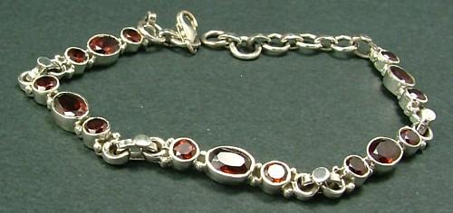 Design 1417: red garnet bracelets